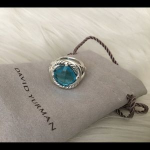 David Yurman London Blue Topaz Infinity Ring